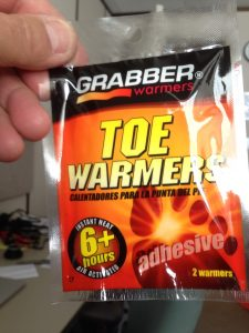 Toe Warmers are your good friends on days like this (but they don't really last 6+ hours; more like 2 hours, maybe)