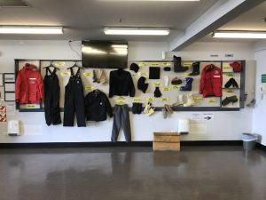Clothing options at the Clothing Distribution Center