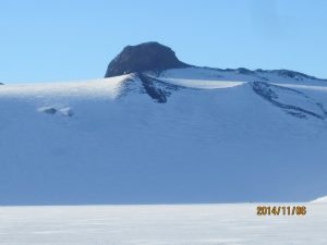 One of the interesting rock formations seen from snow camp.